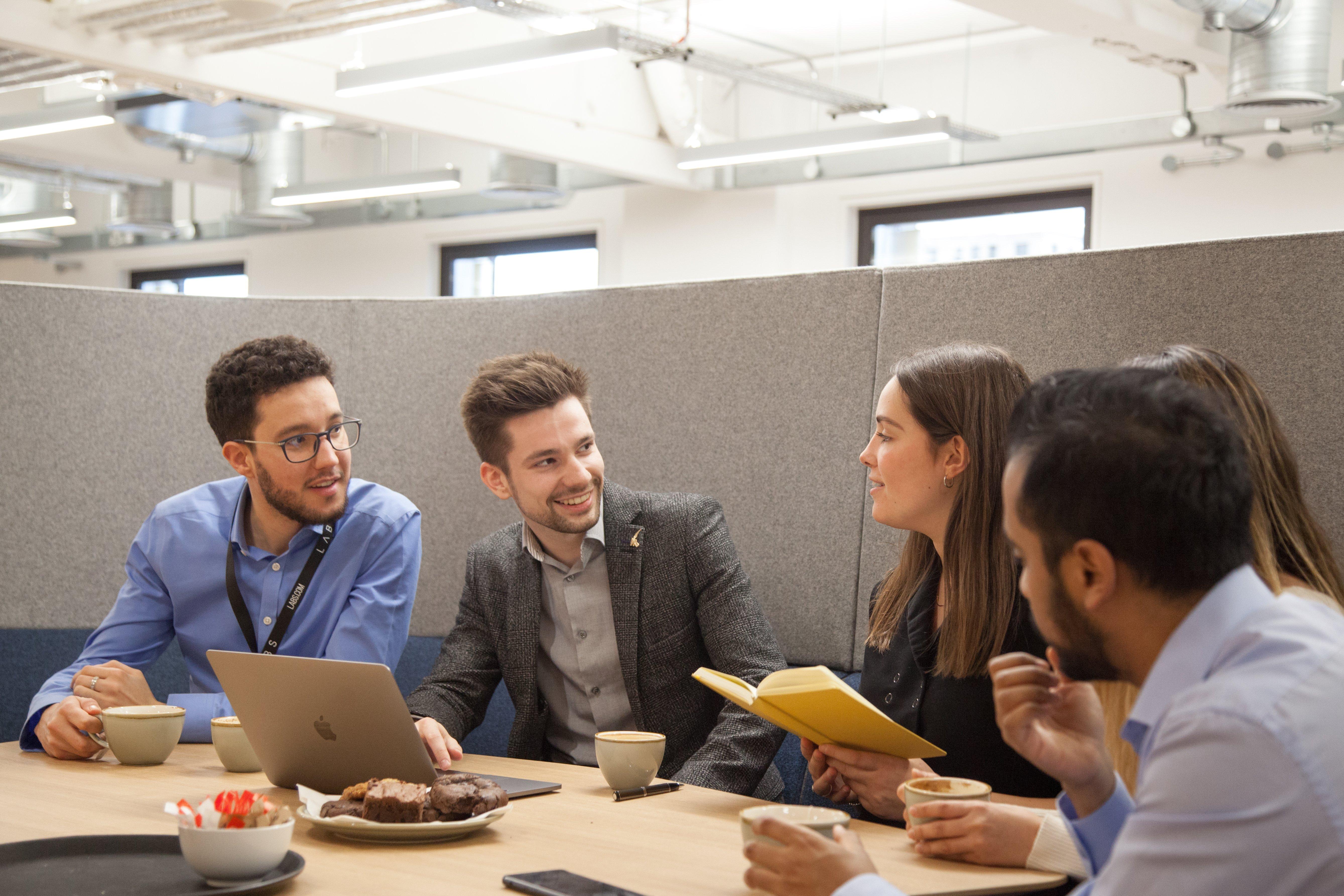 Team in London LABS office pod